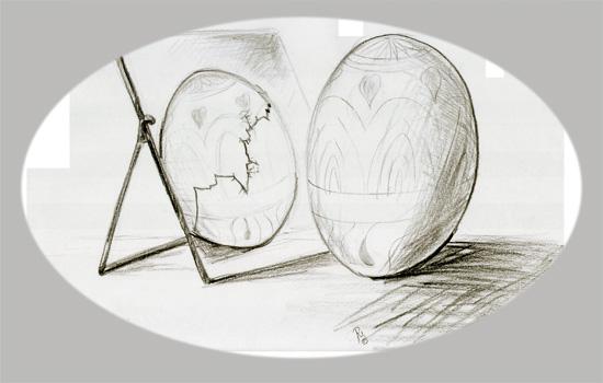 Bastelki: Jajecznica z pisanek